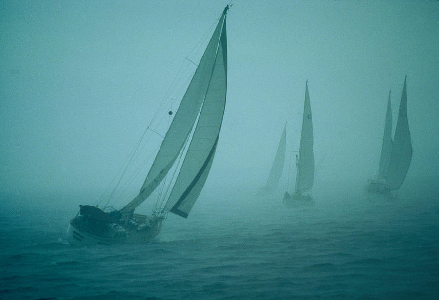 sailboats-leaning-in-the-wind-kenneth-garrett