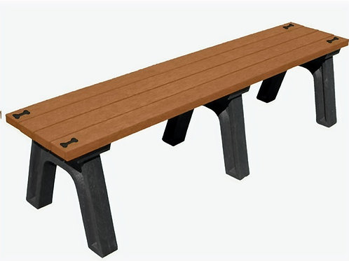 "6"" Poly Bench with Bones-Black/Cedar #7712-BC BONES"