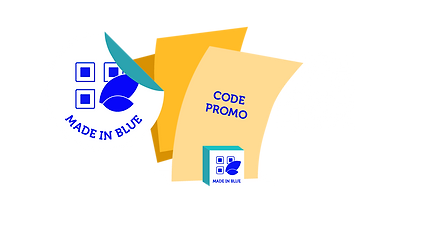 Made In Blue - Stickers, Presentoirs, QR Codes