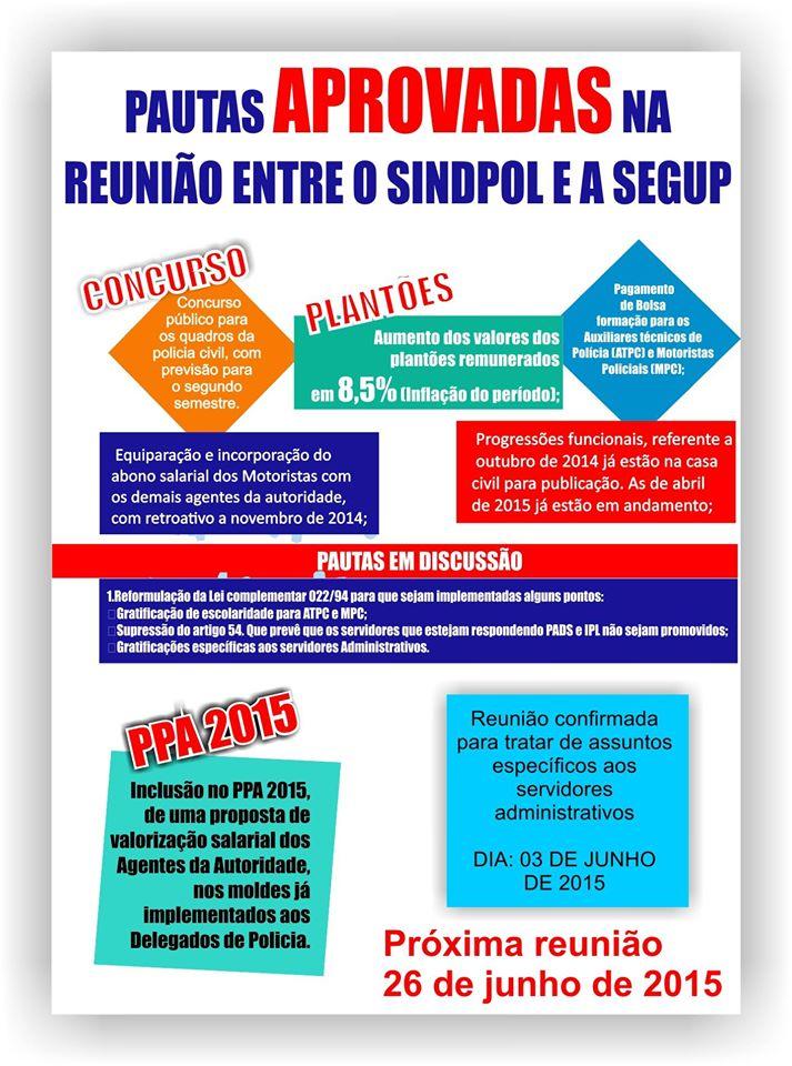 REUNIÃO ENTRE SINDPOL E A SEGUP