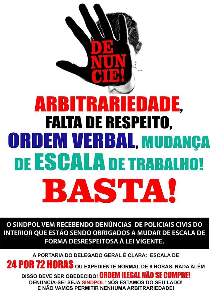 BASTA DE ARBITRARIEDADE