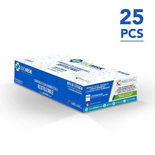 Caja Cubrebocas lavable BIOMSK 25 pzas