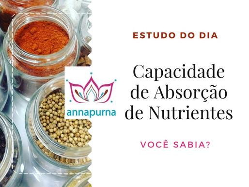 Capacidade de Absorção de Nutrientes