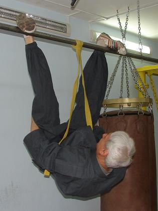 Вадим Вязьмин  в подвешенной позиции