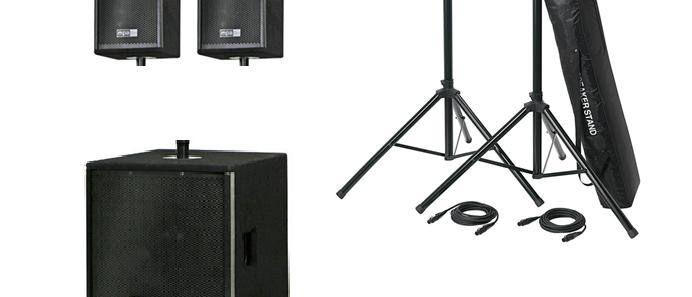 Lautsprecher Set 1 (ohne Mischpult)