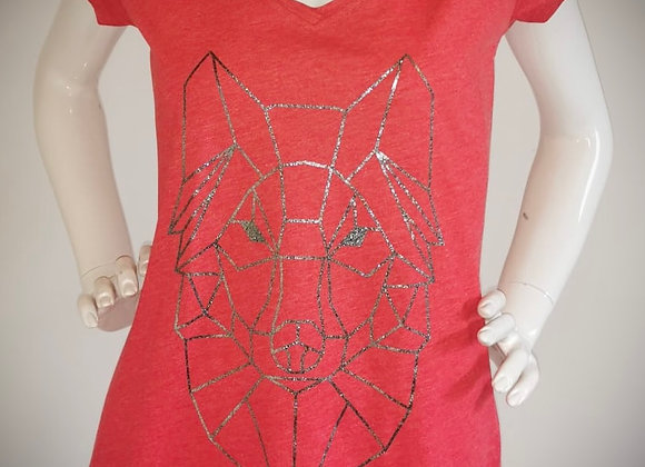 """Vintage T-Shirt """"Wulf"""" Vintage Red / Silver"""