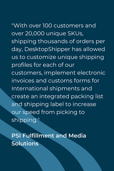 PSI Fulfillment and Media Solutions Testimonial