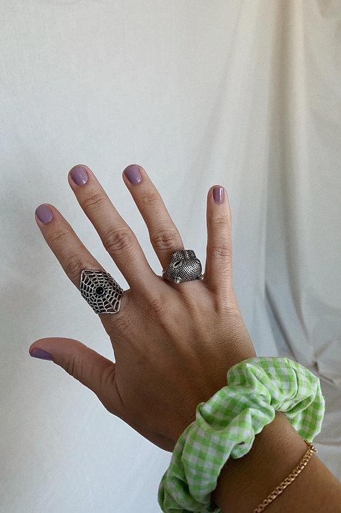 Tiger Silver Ring