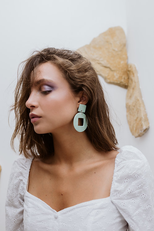 Handmade Ceramic Texture Earrings