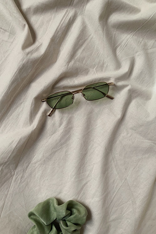 Green Tinted Lens Sunglasses