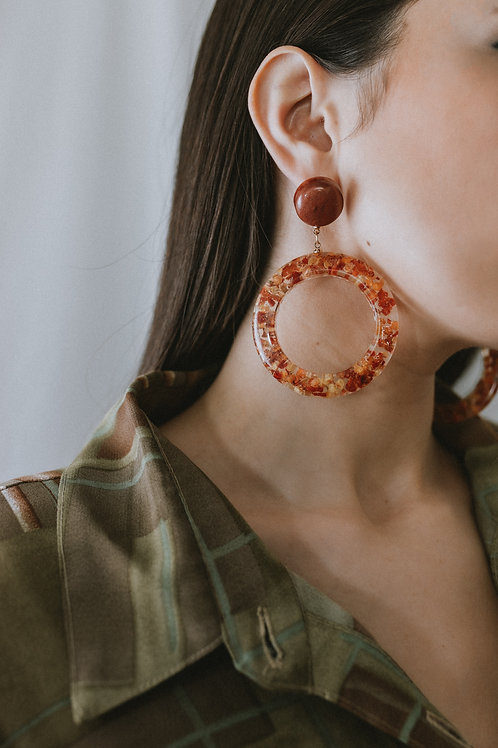 Resin Oversized Earrings