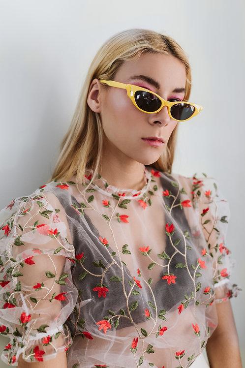 Ditsy Flower Mesh Top