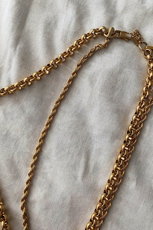 Stainless Steel Double Necklace