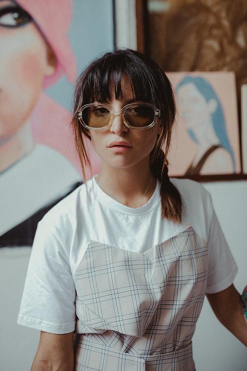 Yellow Bold Frame Sunglasses