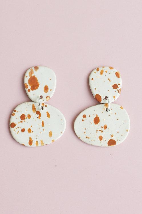 Handmade Ceramic Splashed Earrings