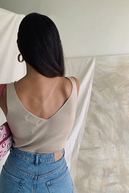 Knitted Cream Top