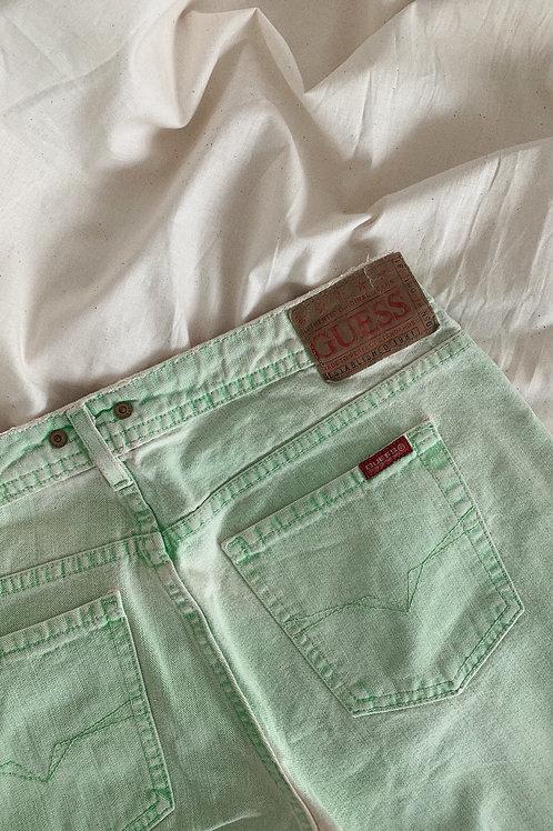 Y2K 00s Vintage Guess Mint Jeans