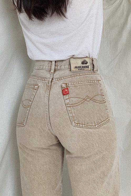 Vintage Beige Jeans