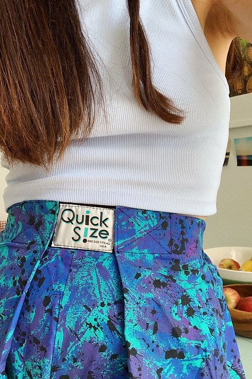 Vintage Quick Size Trousers In Blue 80S