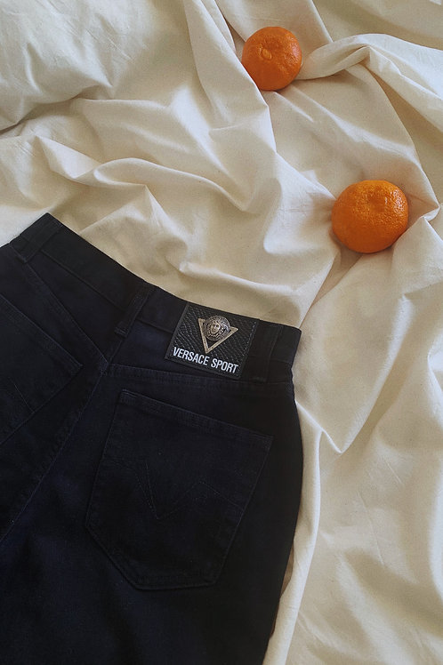 Vintage 90s Versace Sport Black Jeans