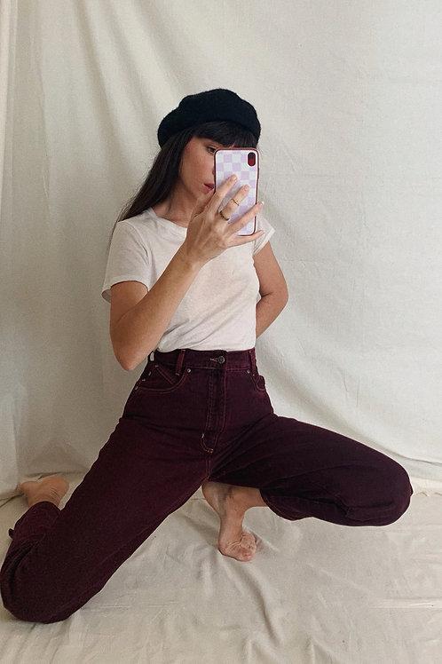 Vintage Bordeaux Jeans