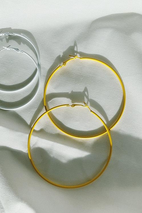 Yellow Loops Earrings