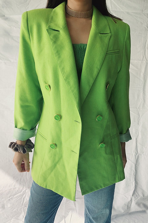 VINTAGE LIME GREEN BLAZER JACKET