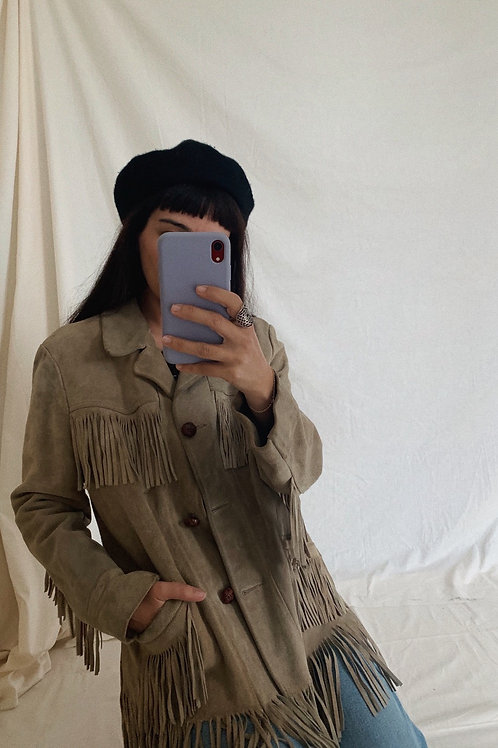 Vintage Suede Leather Coat