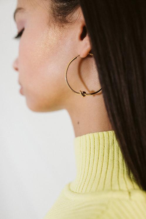 Loop Earrings With Knot