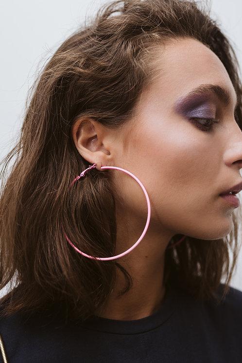 Neon Pink Loops Earrings