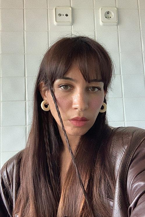 Resin Hoop Earrings In Cream