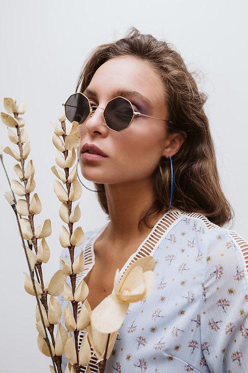 Octagon Shape Sunglasses