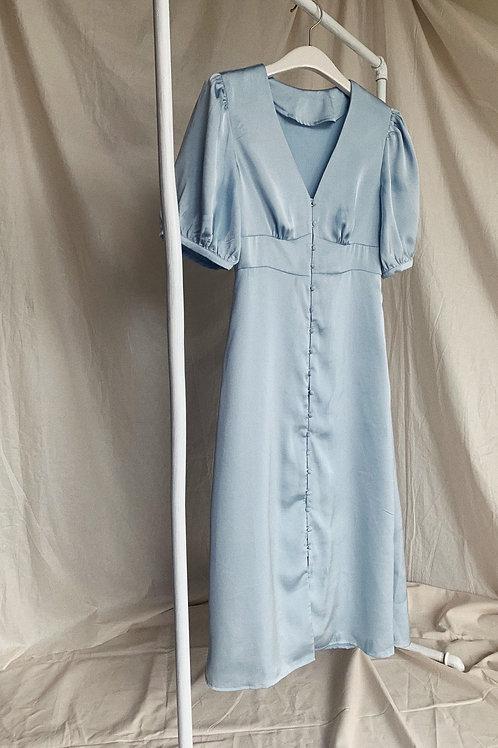 Light Blue Midi Dress