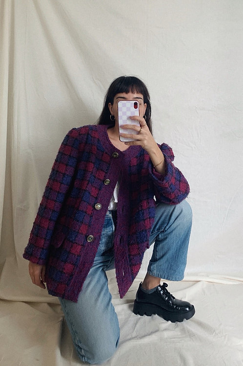 Vintage Checkered Jacket