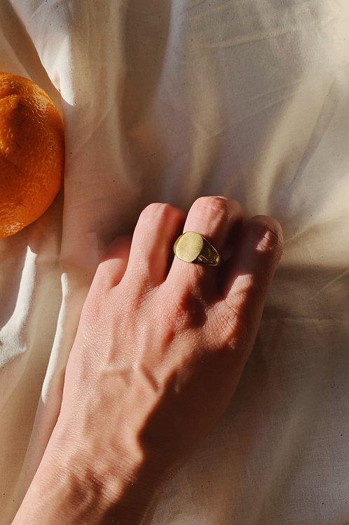 Plain Chunky Gold Ring