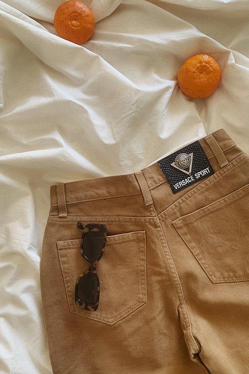 Vintage 90s Y2K 00s Versace Sport Camel Tone Jeans