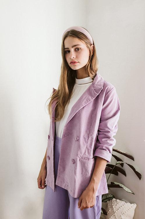 Lilac Corduroy Blazer