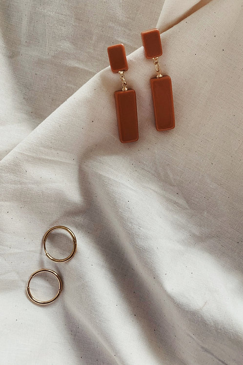 Terracotta Drop Earrings