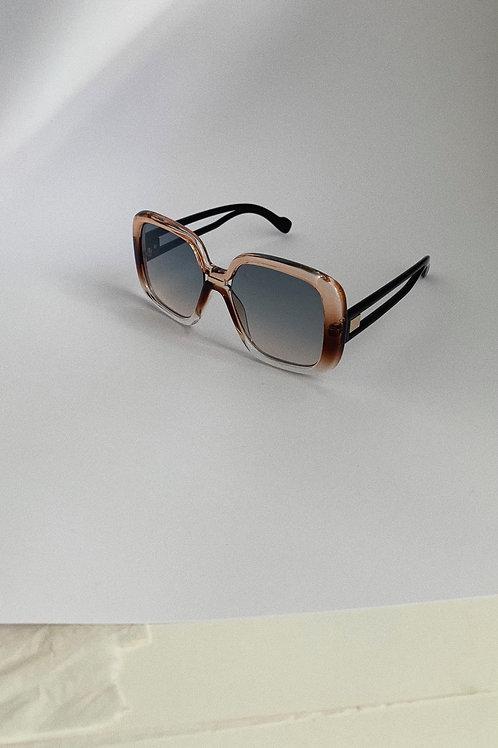 Retro Oversized Sunglasses In Brown Ombre