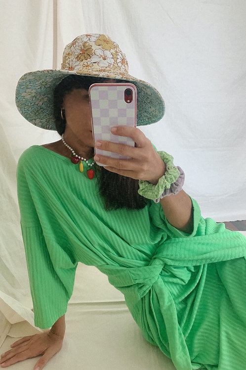 Vintage Cotton Green Dress
