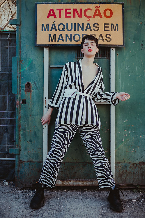 Zebra Print Denim
