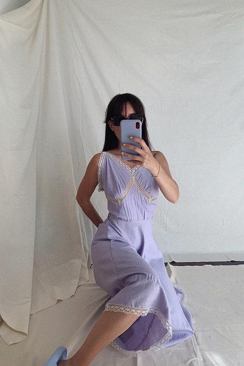 Vintage Midi Dress In Lilac M