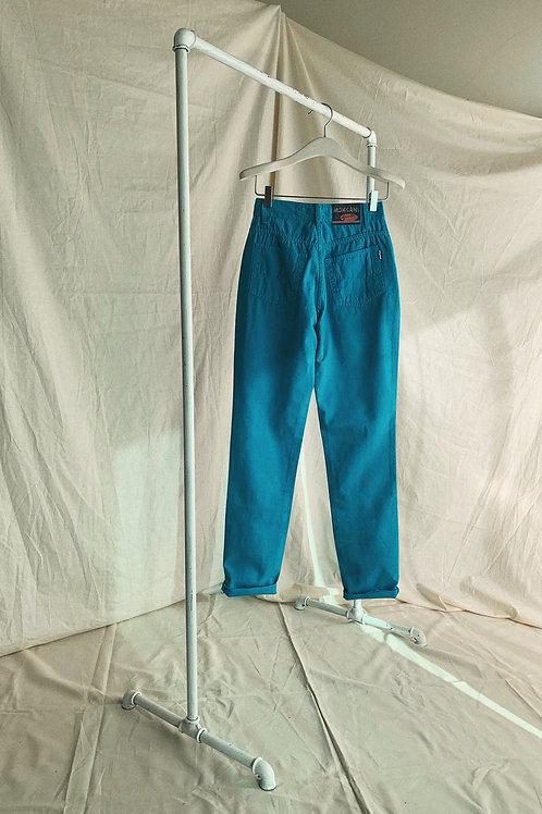 90s Vintage Denim Turquoise Jeans