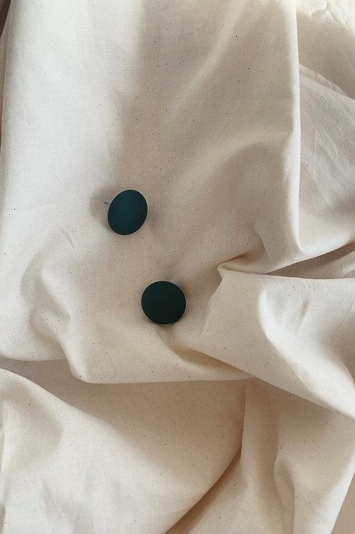 Avocado Green Stud Earrings