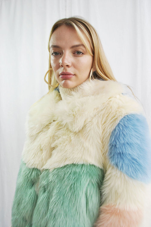 Fluffy Faux Fur Cropped Jacket