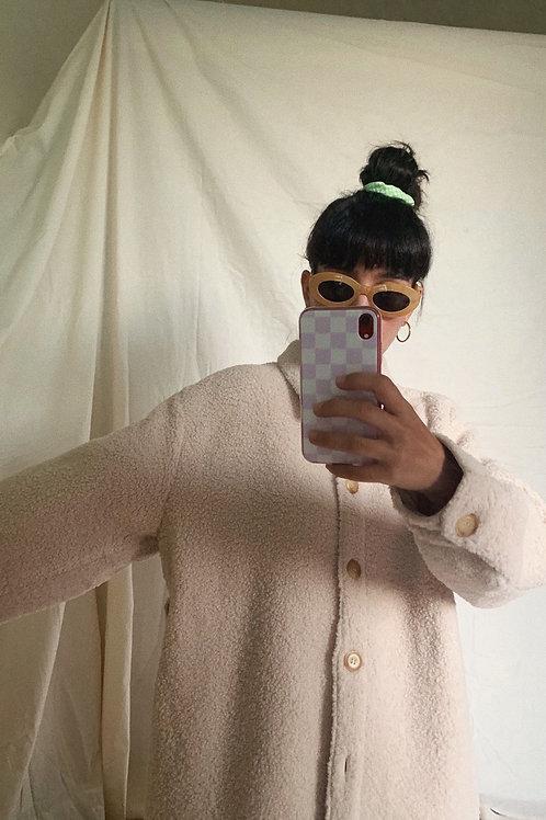 Faux Sheep Fur Coat