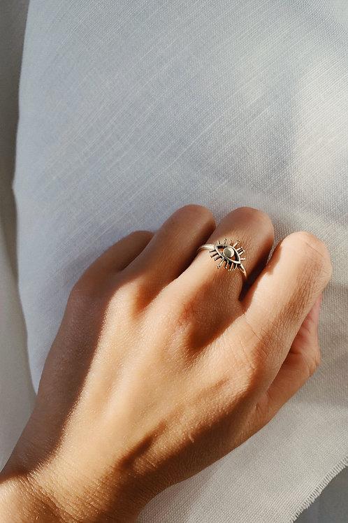 Silver Eye Ring