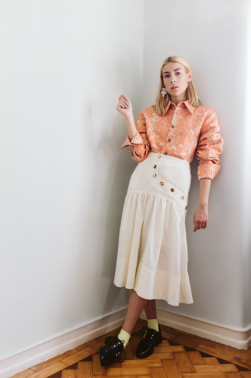 Handmade Orange No Gender Shirt