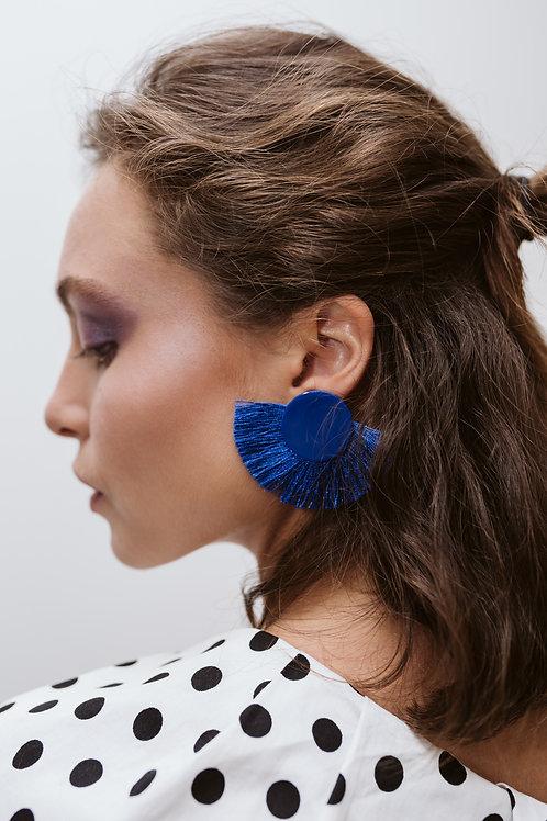 Blue Fringes Earrings