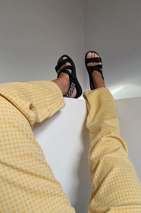 Vintage Gingham Yellow Trousers